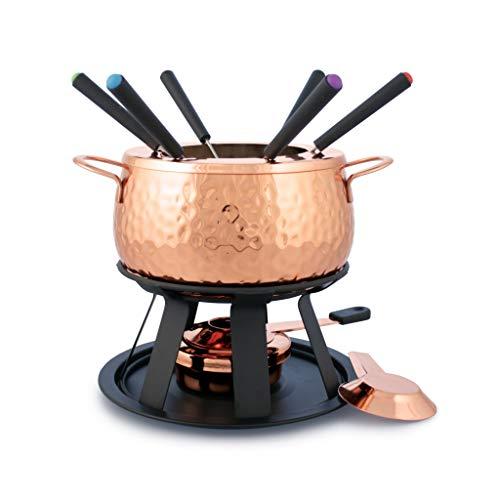 Swissmar 11-Piece Biel Meat Fondue Set, Copper