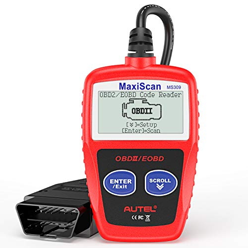 Autel MaxiScan MS309 Universal OBD2 Scanner Engine Light Fault Code Reader, Reading & Erasing Codes, Viewing Freeze Frame Data and Retrieving I/M Readiness Smog CAN Diagnostic Tool