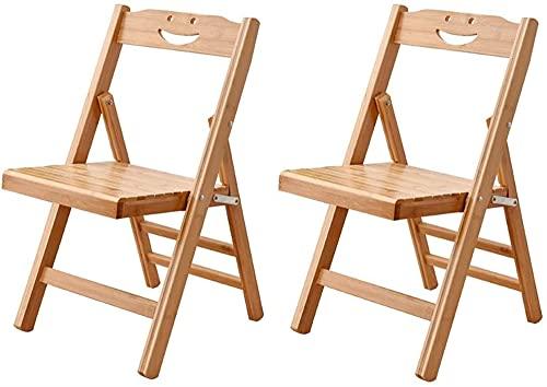 Chaises pliantes School Solid Wood Boîtes et chaises Restaurant Pliante Tabouret High Tool Bureau Chaise portable (Color : Set*2, Size : 32 * 34 * 56 cm)