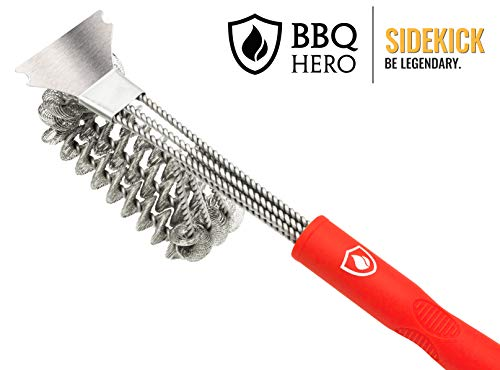 Ceramic,Iron /& Porcelain Barbecue Grates. Canadian Company Safe BBQ Grill Brush for All Stainless Steel Grill Boss 100/% Rust-Proof High-Nickel 304 Stainless Steel