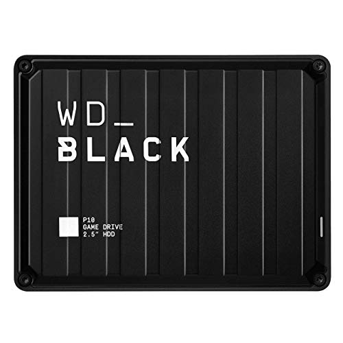 WD BLACK P10 HDD Portátil Game Drive de 5 TB para llevar tu colección de juegos de PC/Mac o Consola allí donde vayas, Estándar, negro