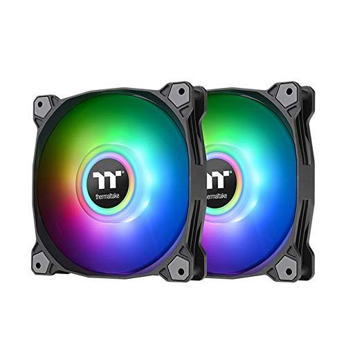 Thermaltake Pure Duo 12 ARGB Sync Radiator Fan (2-Fan Pack)-schwarz, CL-F115-PL12SW-A