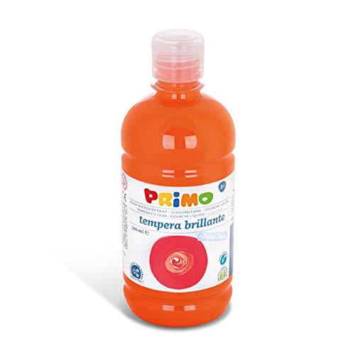 PRIMO Schulmalfarbe für Kinder  wasserlösliche Tempera-Farbe   500 ml Flasche mit Dosierverschluss   versch. Farben (orange)