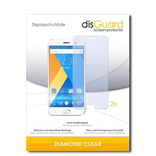 disGuard 2 x Bildschirmschutzfolie Lenovo Zuk Z1 Schutzfolie Folie DiamondClear unsichtbar