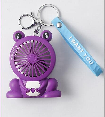 KACC Cartoon Unicorn Fans Rucksack Keychain Ladung im Freien Fans Tragbare Student Anhänger Space Capsule USB Lade Mini Fan (Farbe : C)