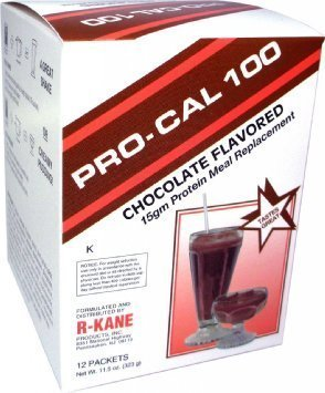 ProCal 100 Shakes Natural Health Labs 15g Protein, 12 pks/box(Chocolate) by Pro Cal