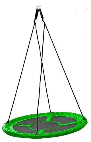 Izzy Nestschaukel 110 cm grün Garten-Schaukel 150 kg TÜV Rheinland GS Mehrkindschaukel