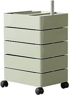 Tables Basses De Rangement Rotatives Mobiles À 360 ° Tables De Chevet Latérales Pour Canapé Avec 5 Tiroirs, Pour Salon Cha...