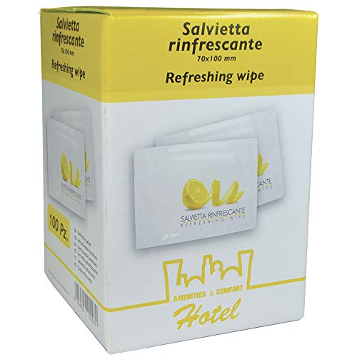 Anonima MTP100-SRL70 Multipack Salviette Rinfrescanti Limone 70 x 100, 100 Pezzi
