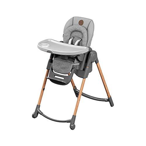 Bébé Confort Minla Chaise Haute bébé Évolutive, Réglable 6 positions, de la naissance à 6 ans (jusqu'à 30kg), Essential Grey