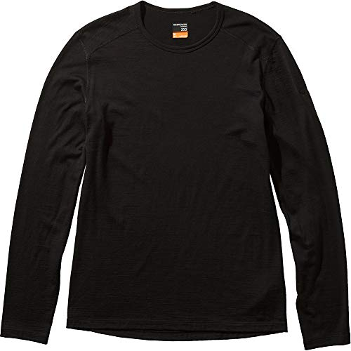 [アイスブレーカー] Tシャツ 200 オアシス ロングスリーブ クルー メンズ ブラック S