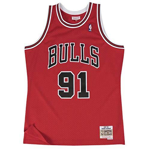 Mitchell & Ness Swingman Maglia Maglia Chicago Bulls 1997-98 Dennis Rodman - XL
