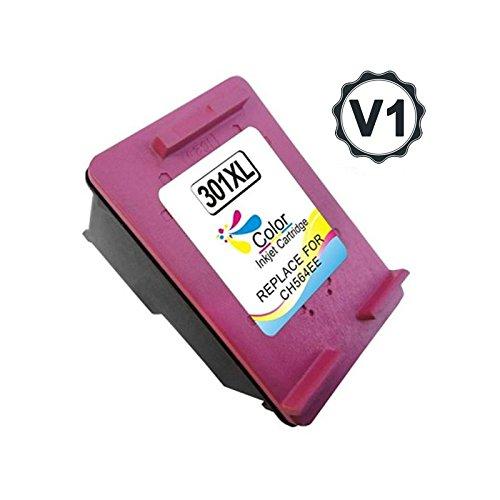 Bramacartuchos - Cartucho Reciclado Hp 301Xl Color, Ultimo Version con nivel de tinta. CH564EE.(VALIDO NUEVAS IMPRESORAS) HP Deskjet 1010, 1510, 1512, 1513, 2540, 2542, Envy 4500, Officejet 2620 All-in-One