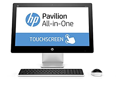 HP All in One PC 23.8 Inch Full HD (1920x1080), 6th gen Intel Core i3-6100T 3.2Ghz processor, 8GB Ram, 1TB HDD,DVD Burner, WiFi/HDMI/Webcam, Win 10, Included Keyboard and Mouse