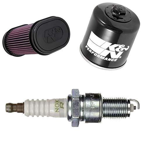 K&N NGK Filtre à air Filtre à huile Bougie d'allumage YXR 700 FSPD Rhino Special Edition 2013-2014 Service d'entretien