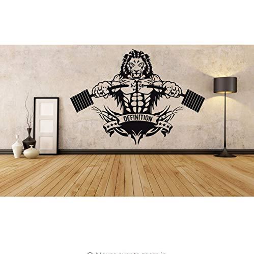 Kyzaa Wandaufkleber Sport Lion Zimmer Dekoration Crossfit Fitness Club Gym Poster Jede Größe Design Abnehmbare Poster Wandbild
