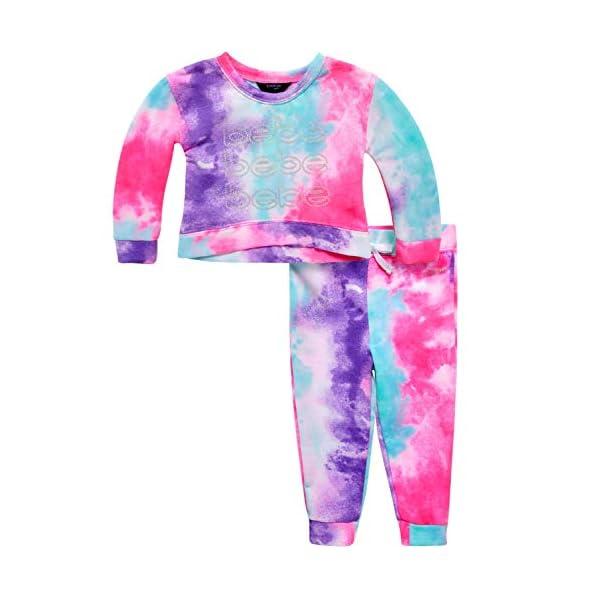bebe Baby/Toddler Girls' Jogger Set – Fleece Pullover Sweatshirt and Sweatpants...
