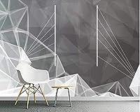 Decoration wallpaper 壁紙3 d壁画カスタム壁紙壁の壁画のための壁紙と寝室の壁の装飾/産業風の幾何学図形400cmx280cm (Color : 430cm X 300cm(width X Height))