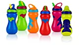 Nuby Flip-It Top Gator Grip Sipper, 15 Ounce, Colors May Vary