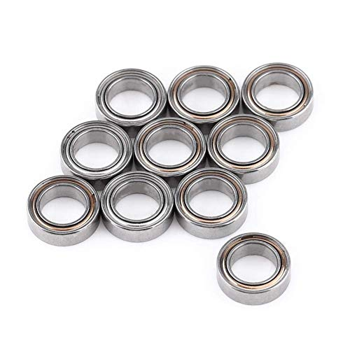 Betrothales Ball Bearing 10 Pieces Mr85Zz Double Shielded Miniature Ball Bearing 5X8X2.5 Mm Bearing Steel For 3D Printer Model Making Sale Home Daily Use Product (Color : Colour, Size : Size)