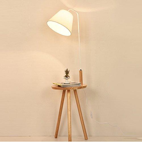 ZIXUANJIAXL Stehende Stehlampen Stehlampe Stoff loggt 40 * 140 cm Nordic Persönlichkeit vertikale kreative Wohnzimmer Studie Schlafzimmer Nacht einfache Licht Stehlampe Lese (Color : White)