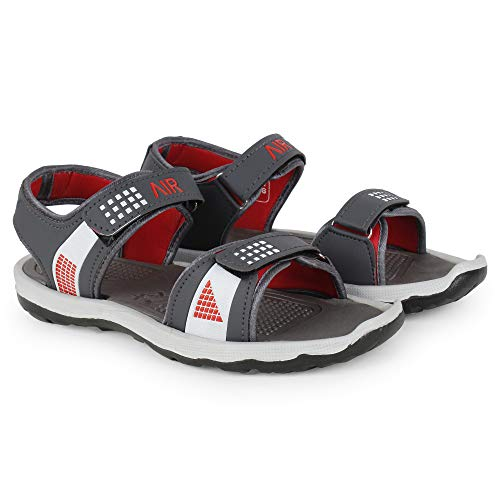 Creattoes Men & Boys Sandals, Casual Sandal, Walking, Lightweight Floaters Multi Color Grey