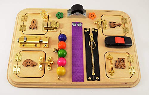 Travel busy board, Sensory for baby, Toy for travel, Pretend play, Montessori for girls, Toy for boy, Gift 1st, Baby gifts, CIJ