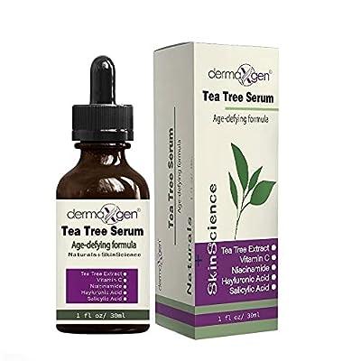 dermaXgen Tea Tree Serum + Acne Remover + Pimple and Repair Skin, MOISTURIZING Revitalize, Nourishes & Repair Damage Skin by Dermaxgen Inc