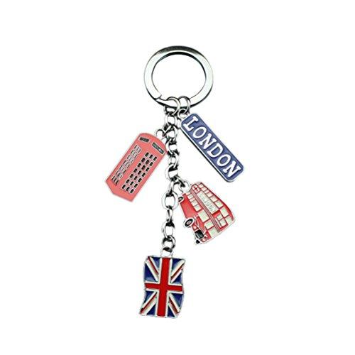 LUOEM UK Flag Metal Keychain Souvenir Keychain Union...
