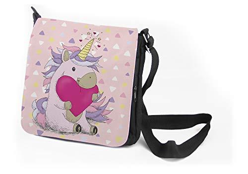 Umhängetasche Mädchen, Mädchentasche, Tasche mit Namen Mädchen, Sporttasche Mädchen, Einhorn, Geschenke für Kinder, Besondere Geschenke