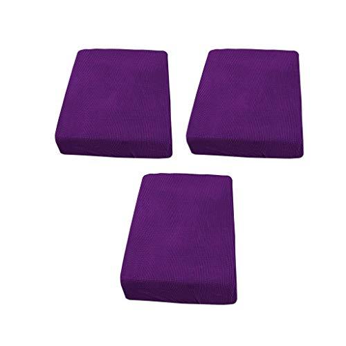 Amuzocity Sofá Futón de Tela de Licra de Color Púrpura de 2 Plazas Y 1 Plaza Doble