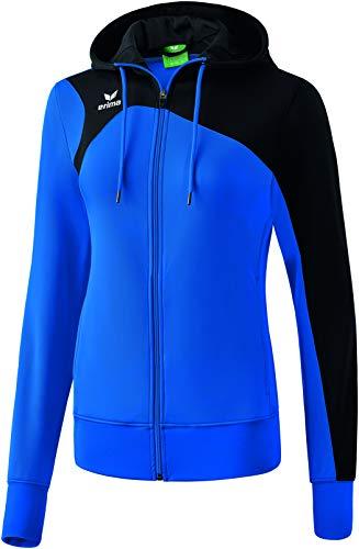 Erima Damen CLUB 1900 2.0 Trainingsjacke mit Kapuze, new royal/Schwa, 38
