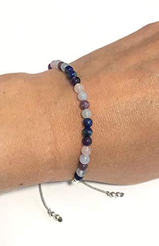 KARMA GEMS Confidence, Stress, Anxiety & Calmness Healing Reiki Balance Bracelet -Adjustable
