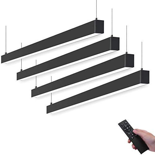 Barrina LED Linearlicht mit Fernbedienung, 45 W, 1,2 m, verknüpfbar, stufenlos, dimmbar, Farbwechsel, 3000 K, 4000 K, 6000 K, hängende LED Shop Lichtkanal Licht für Büro Decke