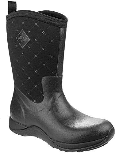 Muck Arctic Weekend Mid-Height Rubber Women's Winter Boots - Black Quilt - 10