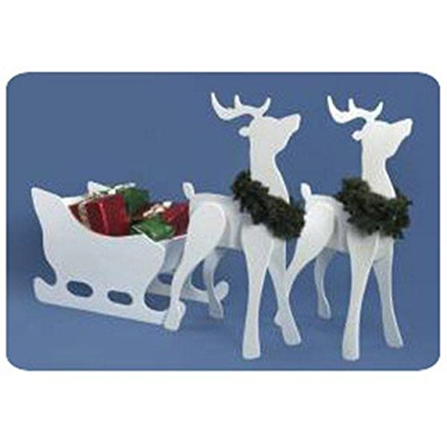 Woodworking Project Paper Plan to Build Proud Reindeer and Sleigh Combo