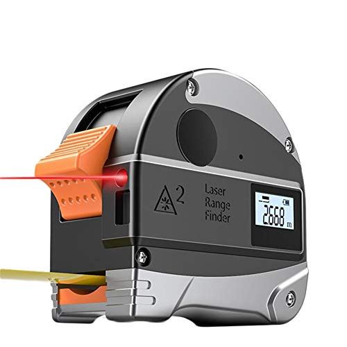 8HAOWENJU Stahlband, EIN optisches Entfernungsmesser 5m Hilfsband sowie Hilfs Optischer Entfernungsmesser 30 m 2 in 1, USB-Lade Wasser- und staubdicht (Size : 5m(16ft))