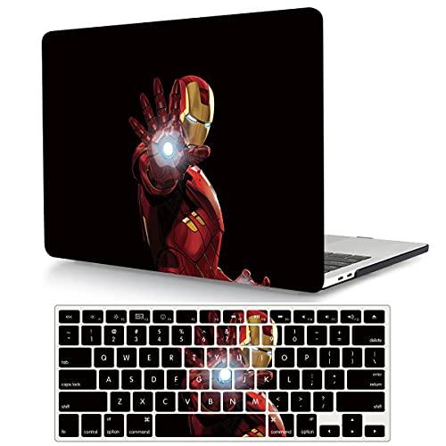 Ironman - Funda compatible con MacBook Pro de 13 pulgadas 2015 2014 2013 2012 modelo A1502 y A1425, carcasa rígida de plástico y cubierta de teclado para Mac Pro 13 con pantalla Retina