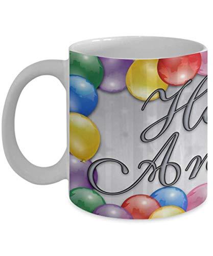 Gelukkig Verjaardag Mok Gelukkig Verjaardag Koffiemok Wrap Rond Gelukkig Verjaardag Ballonnen Ontwerpen Een Grote Gelukkige Verjaardag Mok Gift