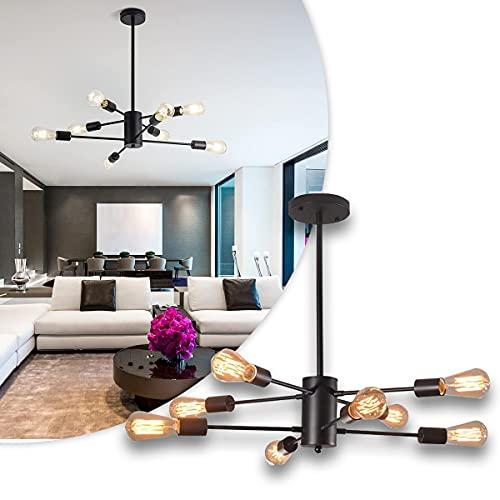 BLLJQ Sputnik Iluminación Colgante Moderna De 8 Luz, Techo Colgante Salón Lámparas, Base E27, para Cocina, Comedor, Sala De Estar, Dormitorio