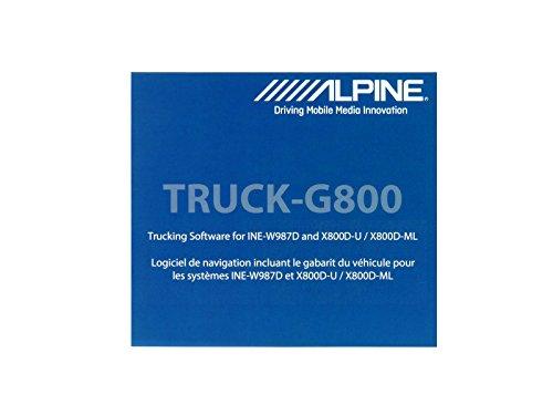 Alpine Truck-G800 (LKW Software für X800D-U / X800D-ML / INE-W987D)