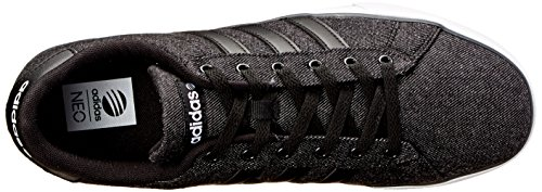 adidas NEO Men's SE Daily Vulc Lifestyle Skateboarding Shoe,Black/Black/White,11 M US