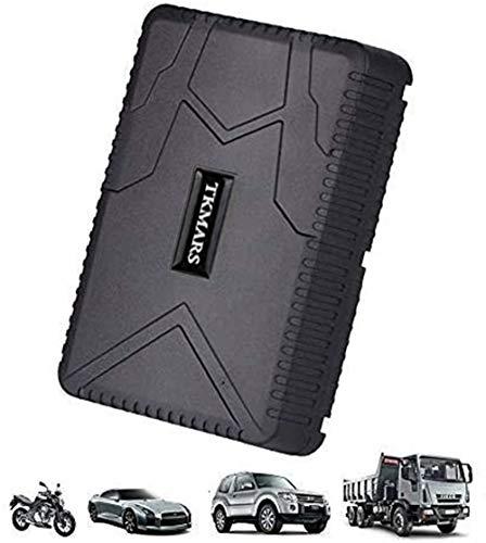 TKMARS Rastreador GPS en Tiempo Real, Dispositivo de Transporte de Vehículos a Prueba de Agua Batería Larga 80 Días de Vida Imanes Incorporados Localizador