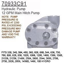 70933C91 Case Tractor Parts Hydraulic Pump 330, 340, 504, 460, 560, 606, 660, 54