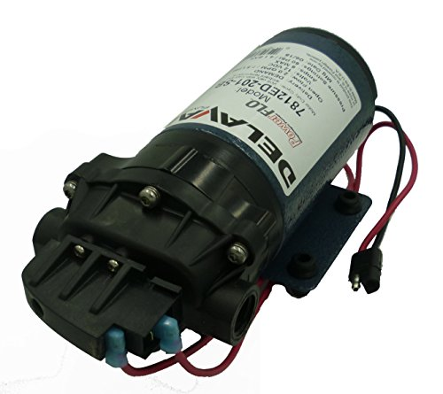 Delavan 7812ED-201-SB Extreme Duty 60 PSI 2 GPM Viton Valves On Demand Geolast Diaphragm Water Pump with 3/8 Inch FNPT Ports