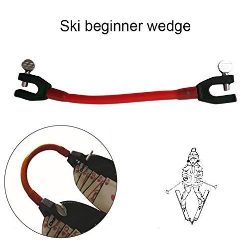 Goodde Ski Lernhilfe - Ski Tip Connector - Hervorragende Elastizität Tip Connector Fixer, Kinderski Lernhilfe - Ski Wedge Aid Skitrainer - Geschwindigkeitskontrolle - Perfekt für Anfänger