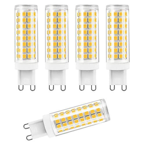 ZJYX Paquete de 5 G9 Bombilla LED 12W Lámpara LED, Equivalente Halógena 120W, Blanco Cálido 3000K, AC 220-240V, 1200LM Luz LED & lampara LED lampara ahorradora de energia
