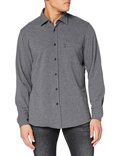 BOSS Relegant_2 Camisa, Medium Grey (39), L para Hombre