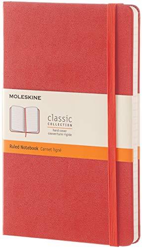 Moleskine QP060F16 - Cuaderno de rayas, L 13 x 21, color naranja coral