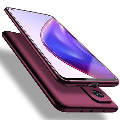 X-level für Xiaomi Mi 10T Pro Hülle, Xiaomi Mi 10T Hülle, [Guardian Serie] Soft Flex Silikon Premium TPU Echtes Handygefühl Handyhülle Schutzhülle Kompatibel mit Mi 10T/10T Pro Hülle Cover - Weinrot